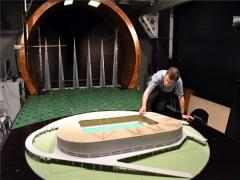 Szélcsatornában tesztelték a leendő debreceni Nagyerdei Stadiont