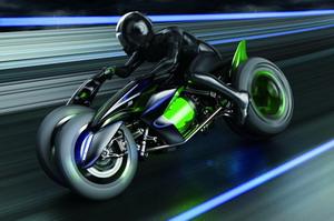 Háromkerekű Kawasaki koncepció