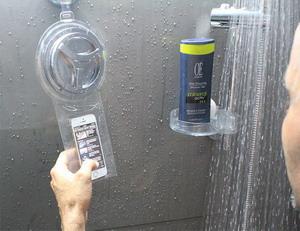 Mobil a zuhany alatt