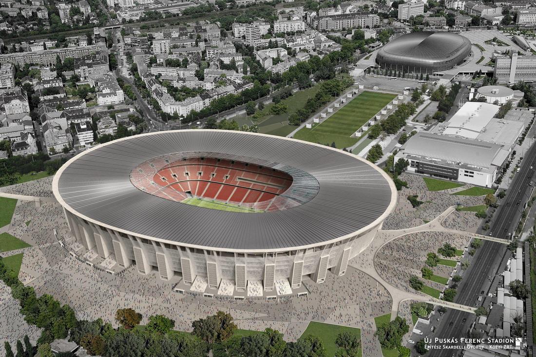 Íme az új Puskás Stadion látványterve