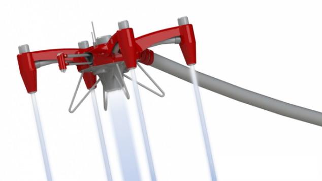 Repülő tűzoltó fecskendő