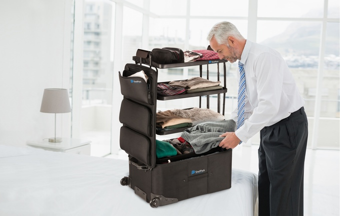 "Polcos ""Selfpack"" bőrönd"