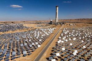 Napenergia-torony a Negev-sivatagban