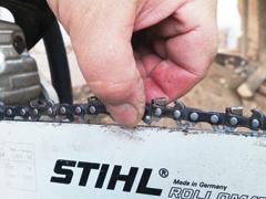 Nyúzópróbán Stihl MS 211 láncfűrész