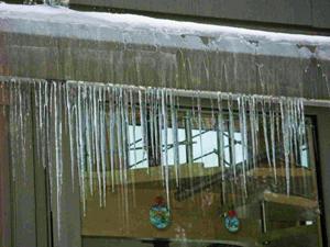 Esőcsatornák jégmentesítése