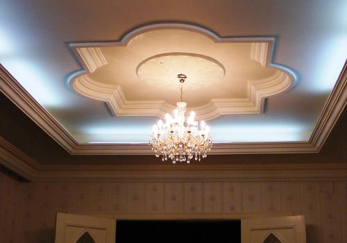 Rejtett világítás villany és klímaszerelés gipszkarton falba