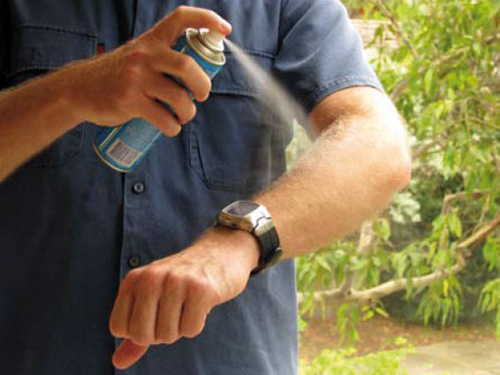 How to prevent dengue during monsoons- apply mosquito repellents