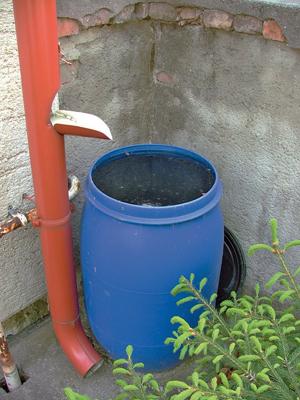 Esővízgyűjtő tartály házilag
