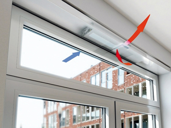 Ablakba integrált, hőcserélős szellőztető