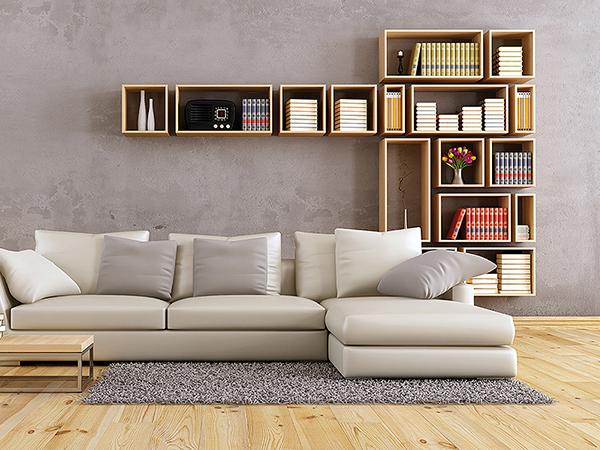 Egyedi kialakítású polcos bútorok
