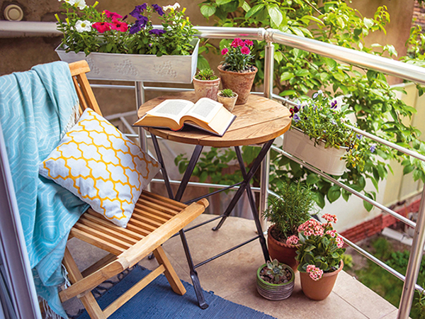 Erkélyek, balkonok lakberendezése