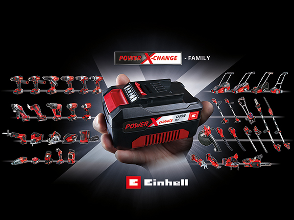 "Einhell Power X-Change ""akku"" rendszer"