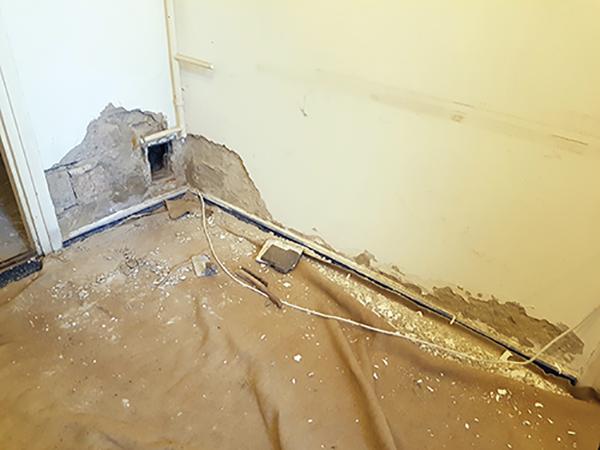 Falak nedvesség elleni szigetelése injektálással