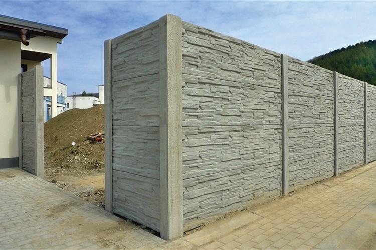 Beton kerítés festése