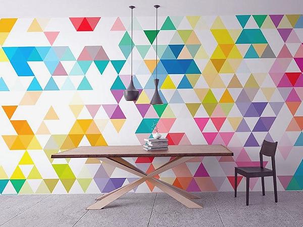 Op-art mintás szobafalak