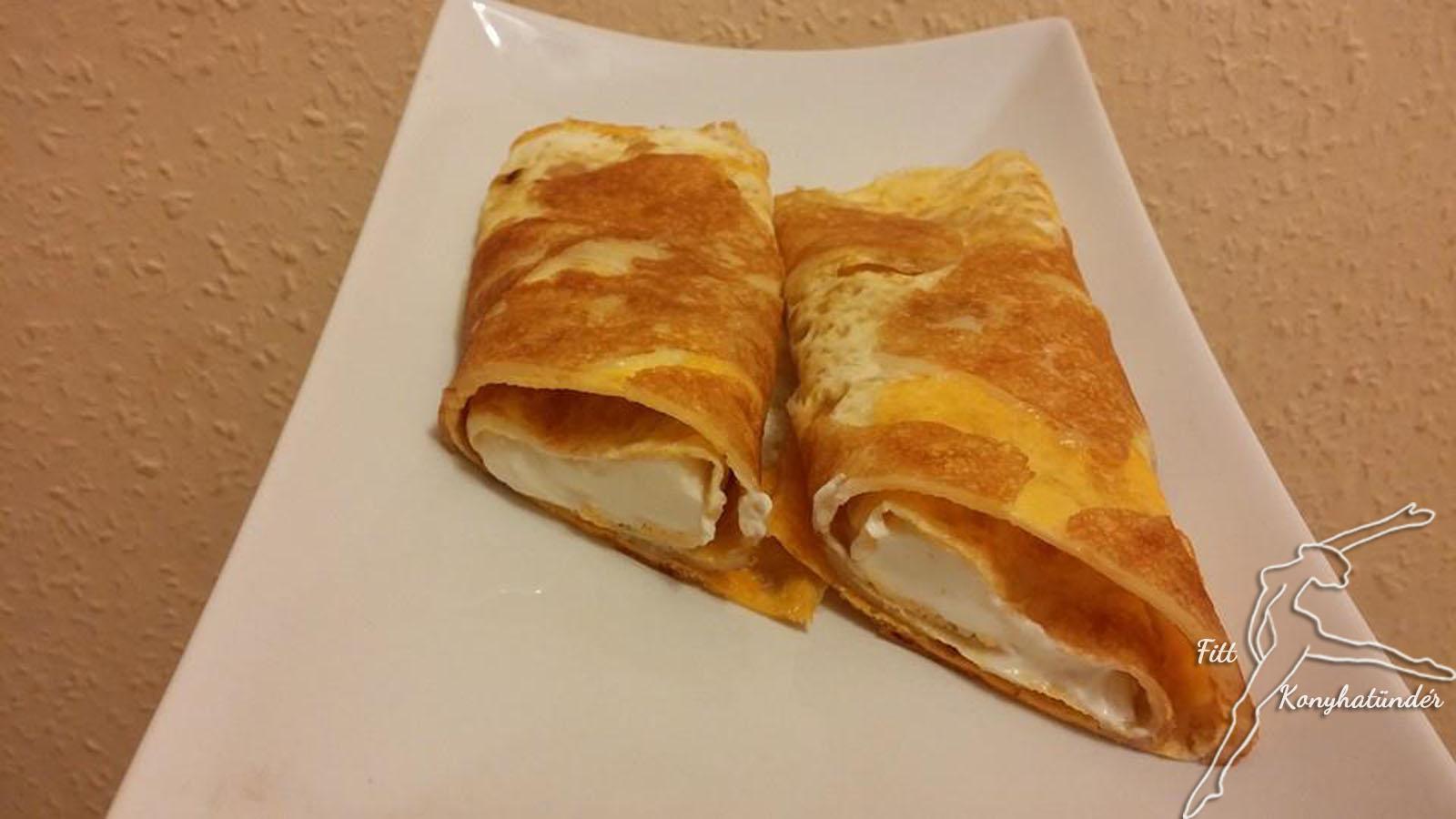 Duplasajtos omlett-tekercs