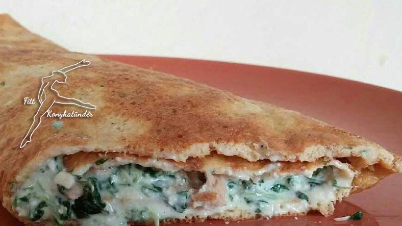 Tonhalas-spenótos omlett