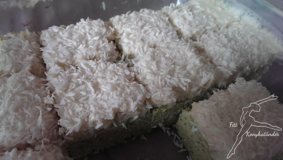 Cukkinis-kókuszos-habos finomság