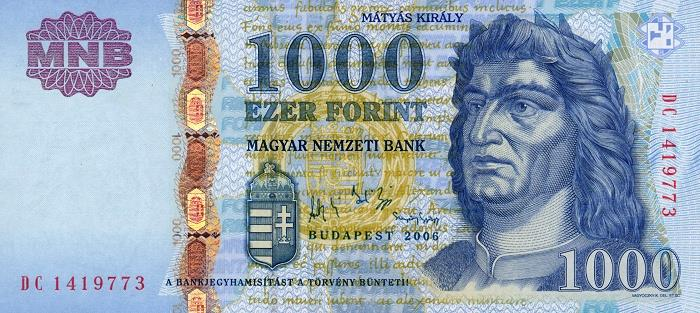 1000 forintos bankjegy